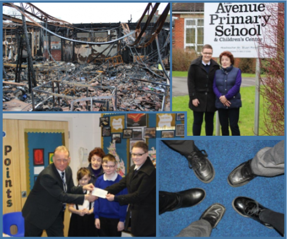Lyons visit The Avenue School in Warminster to present a cheque